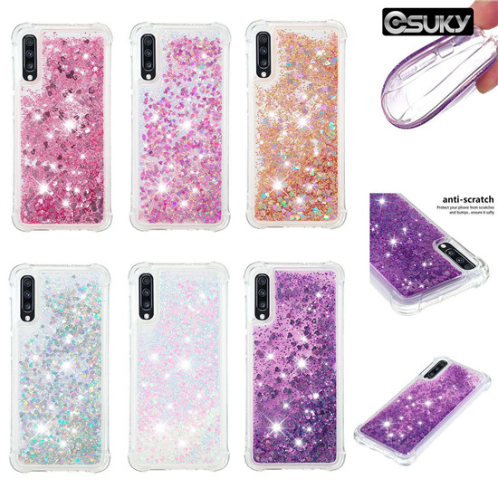 Soft Fashion Love Heart QuicksandLiquid Glitter Silicone Phone Case for iPhone xs max xr iPod Touch 7 Samsung A40 M30 S10e Xiaomi Mi A1 Redmi S2 Huawei P Smart Huawei Mate 20 Sony XZ1 XA2 Google Pixel 3L LG K40 V40 Moto E4 Air Cushion Corner Shockproof