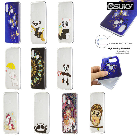 TPU Silicone Case for iPhone xs max xr x Samsung M30 A50 S10 Note 9 Nokia 5 3 2 Sony XZ1 XA2 Moto G5 Xiaomi Pocophone F1 Redmi 4X 5A 6 6A Huawei Y7 P30 P Smart Honor 8A 8C Mate 20 Pro Slim Back Purple butterfly lower icon Semicircular butterfly Phone Case