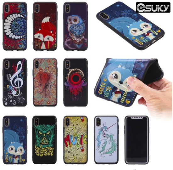 TPU Silicone Case for iPhone x xs 8 7 Samsung A6 A8 J4 J6 S9 Note 9 Huawei Y5 Y6 Mate 20 Lite Honor 7x LG K8 K10 Sony E6 XA1 Moto G5 Xiaomi F1 5X Redmi Note 4 5 Slim Fit Back Skin Cover With 3D Music Symbols Color Elephant Phone Case