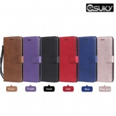 Leather Flip Case for iPhone xs max xr Samsung A70 M30 S10 Huawei Nova 4 Honor 8A Xiaomi 8 Lite Redmi Note 7 LG V50 Sony L3 Moto Z4 Play PU Leather Holster Wallet Cover Pure Blue Purple Red Rose Gold Stand Phone Case