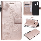 eSuky Flip Case for iPhone xs max xr Nokia 7.1 x71 Xiaomi 9 9se Redmi GO Samsung A70 M30 S10 Huawei P Smart Nova 4 Sony L3 LG V50 K40 Moto G7 P40 PU Leather Holster Wallet Cover Embrossed Butterfly Pattern 2 Cards Pockets