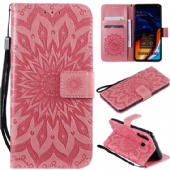 Flip Case for iPhone xs max xr Nokia 9 7.1 Samsung A70 A60 M30 S10 Huawei P Smart Nova 4e Sony L3 XZ3 LG V50 K40 Xiaomi 9se Redmi 7 GO Moto G7 P40 Case PU Leather Wallet Cover Embrossed Sunflower Stand Phone Case