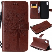 Flip Case for iPhone xs max xr Nokia 8.1 7.1 Xiaomi 9 9se Redmi 7 GO Samsung A70 M30 S10 Huawei P Smart Z Honor 8s Sony L3 XZ3 LG V50 K40 Moto P40 G7 PU Leather Wallet Phone Cover Embrossed Cat Tree Pattern Stand Phone Case
