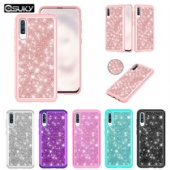 Hybrid Bling Back Case For iPhone xs max xr Samsung A50 A30 A20e LG K40 Stylo5 Moto G7 Z3 Google Pixel 3a Alcatel 7 2018 Diamond Sparkle Shining Glitter Cover Defender for iPhone 8 7 6 6s Dual Layer