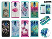 Hybrid Bling Back Case For iPhone xs max xr Samsung A50 A30 A20e LG K40 Stylo5 Diamond Sparkle Shining Glitter Cover Defender for Moto G7 Z3 Google Pixel 3a Alcatel 7 2018 Dual Layer