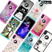Hybrid Bling Back Case For iPhone xs max xr xs Samsung A50 A30 S10 S9 LG K40 K30 Diamond Sparkle Shining Glitter Cover Defender for Moto Z4 G7 Alcatel A30 Google Pixel 3a XL Dual Layer