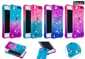 Soft and stylish quicksand+ liquid glitter silicone bling mobile phone case for iPhone xs max xr xs Samsung A70 A30 M20 S10 A9 LG K40 LG Stylo5 Google Pixel 3a XL Huawei P Smart Honor 10 Lite gradient