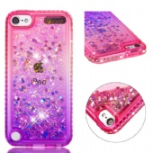 Soft Fashion Quicksand Liquid Glitter Silicone Diamond Bling Phone Case for iPhone xs max xr xs Samsung A60 A20e M40 S10 A9 LG K40 LG Stylo5 Moto G6 E5 Google Pixel 3a XL Huawei P Smart P30 Mate 20 Gradient Colors