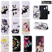 Wallet Case for iPhone xr x Samsung A10e M30 Note 10 Moto G6 LG Stylo 5 K8 Nokia 2.2 3.2 Xiaomi PocoF1 Redmi 7A K20 Sony XA2 Huawei Y5 Nova5i Case PU Leather Flip Cover With 3D Cute Floral Flower Animal Pattern Case Cards Pockets Kickstands Belt Clip Case