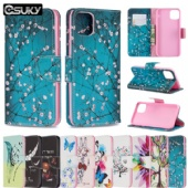 Wallet Case for iPhone xs x Samsung A10e Note 10 LG K40 Q60 Nokia 2.2 3.2 Xiaomi PocoF1 Redmi 7A K20 Sony XA1 Huawei Y5 Moto G6 Google Pixel2 Case PU Leather Flip Cover With 3D Cute Floral Flower Animal Pattern Case Cards Pockets Kickstands Belt Clip Case