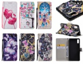 eSuky Flip Case for iPhone xs max Moto G4 Sony L3 XZ4 Xiaomi Poco F1 LG V50 G8 K10 Huawei P30 Y6 Y7 Samsung M30 A70 A40 S10 PU Leather Wallet Cover With Pattern Design 2 Cards Pockets Kickstands