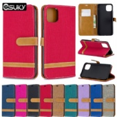 Cow cloth flip cover for iPhone xs max Moto G6 Nokia 2.2 3.2 Xiaomi 7A K20 LG K40 Q60 Sony XA1 XZ1 Samsung A10E Note10 Huawei P Smart Y9 Nova5i PU leather case cover pure Green Royal blue Dark blue Red Purple Black Brown Rose red Gray bracket phone case