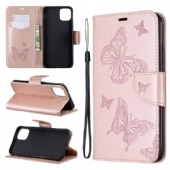 Leather flip cover for iPhone xir xis Sony Xperia 10 LG Stylo 5 Nokia 2.2 3.2 Redmi K20 7A Samsung M30 A10E Note10 Huawei P Smart Y7 Y6 Mate Honor PU leather case cover pure Embossed two butterflies color Dark blue Gray Purple Green bracket phone case